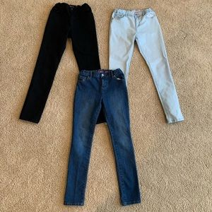 Girls size 12 super Skinny Jeans (3pairs)